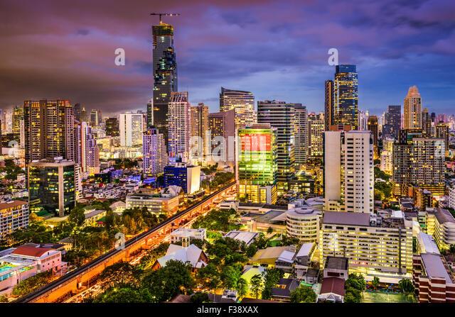 Skyline von Bangkok, Thailand. Stockbild