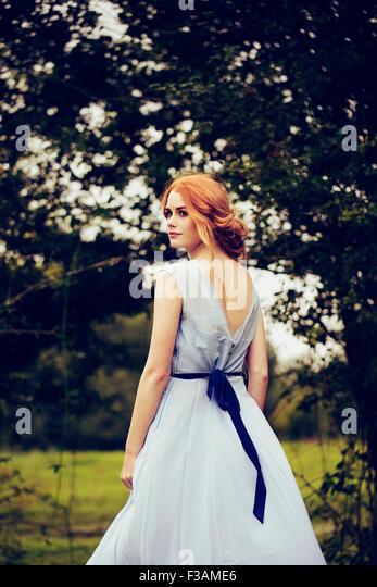 Schöne Ingwer historische Mädchen Stockbild