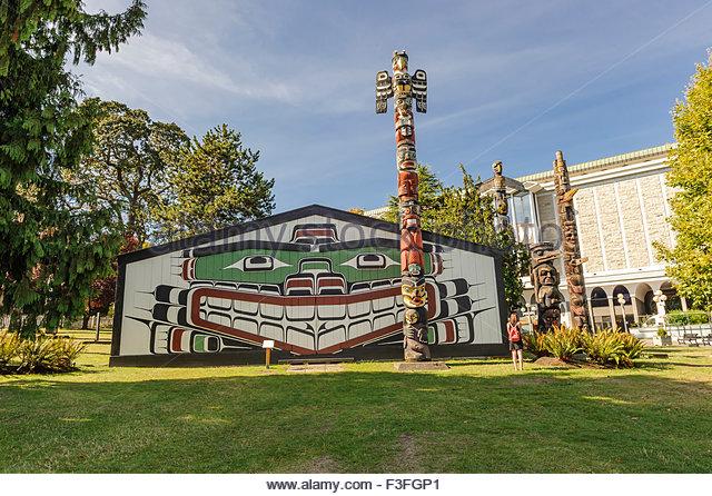 Thunderbird Park, Victoria Stockbild