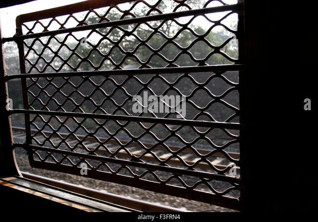 Abstracts; Fenster der Lokalbahn Fach Stockbild