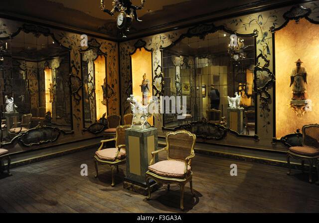 Israel-Museum. Innenraum. 18. Jahrhundert venezianischen Zimmer. Dekoration und Möbel. Jerusalem. Stockbild