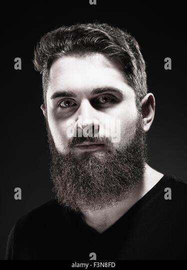 Porträt von einem Teenager Hipster mit Bart Stockbild