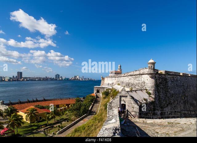Karibik-Kuba-Havanna skyline Stockbild