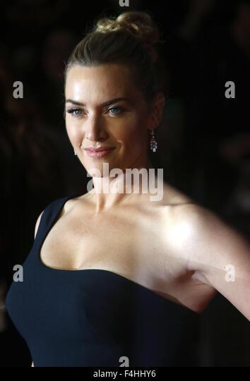 "London, UK. 18. Oktober 2015. Kate Winslet Teilnahme an ""Steve Jobs"" schließen Gala am BFI London Stockbild"