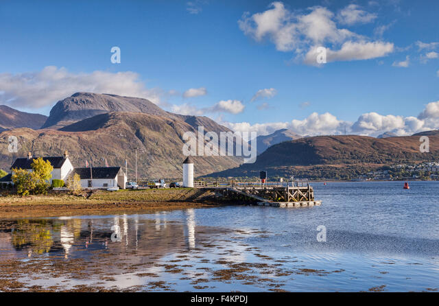 Corpach und Ben Nevis, Fort William, Highland, Schottland, UK Stockbild