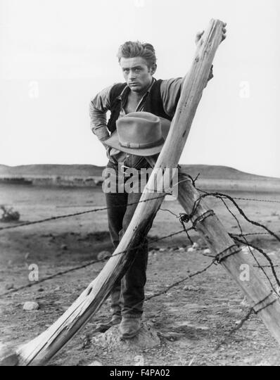 James Dean / Giant 1955 unter der Regie von George Stevens Stockbild