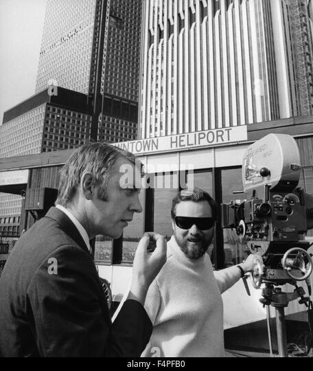 Am Set, Donald Sutherland und Alan Pakula / Klute / 1971 unter der Regie von Alan J Pakula Stockbild