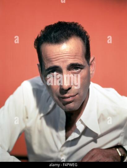 Humphrey Bogart in den 50er Jahren Stockbild