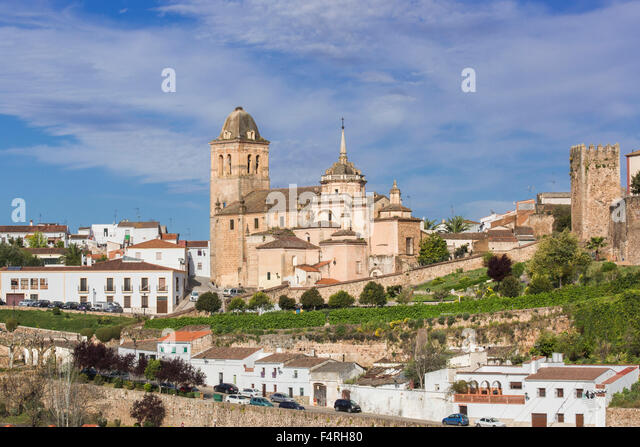 Inkarnation, Extremadura, Stadt, Region, Jerez de Los Caballeros, Spanien, Europa, Frühling, antike Architektur, Stockbild