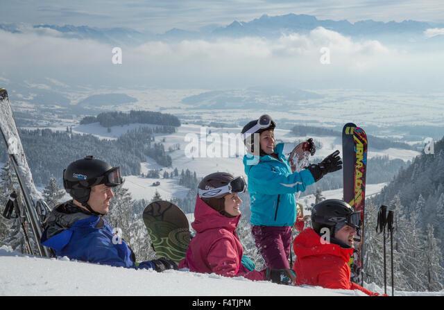 Wintersport im Atzmännig Stockbild