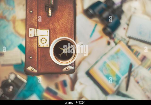 Kaffee für Reisende Stockbild