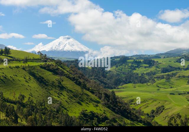 Vulkan Cotopaxi, Provinz Cotopaxi in Ecuador Stockbild