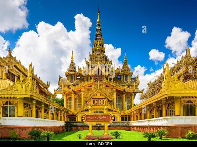 Bago, Myanmar Kambawzathardi Golden Palace. Stockbild