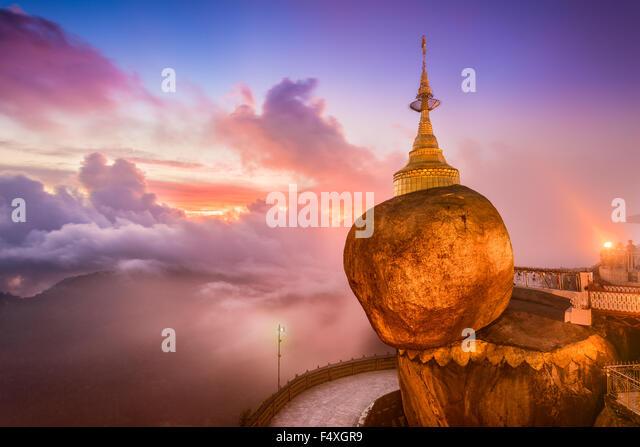 Goldenen Felsen von Kyaiktiyo, Myanmar. Stockbild