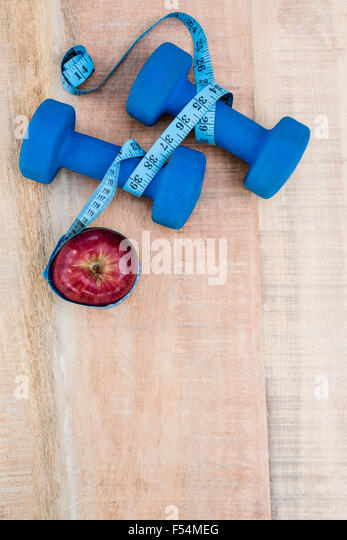 Zutaten für einen gesunden Lebensstil Stockbild