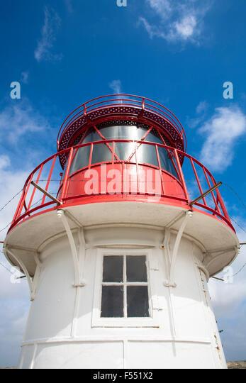 Deu, Deutschland, Schleswig-Holstein, Nordsee, Insel Amrum, das Kreuz, Licht, Leuchtturm norddorf. Deu, Deutschland, Stockbild