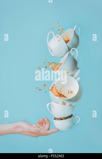 Balancieren Kaffee. Stockbild