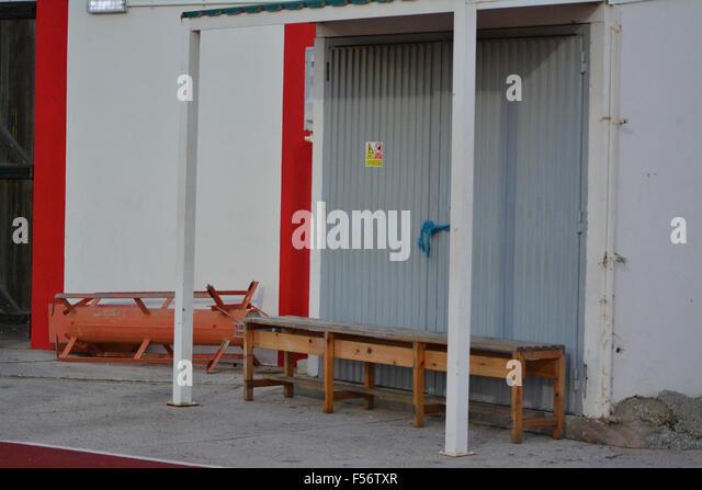 Gibraltar 29. Oktober 2015 - die Gibraltar-Sport und Freizeit Behörde Mitarbeiter haben gedroht, Streit ab Stockbild