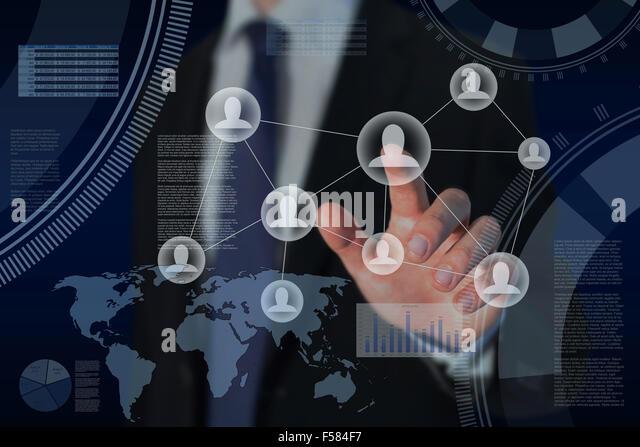 Human Resources und global Business Strategie-Konzept Stockbild