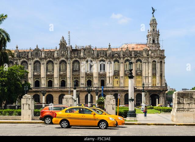 Famous Great Theatergebäude. Havannas Altstadt ist UNESCO-Weltkulturerbe. Havanna, Kuba Stockbild