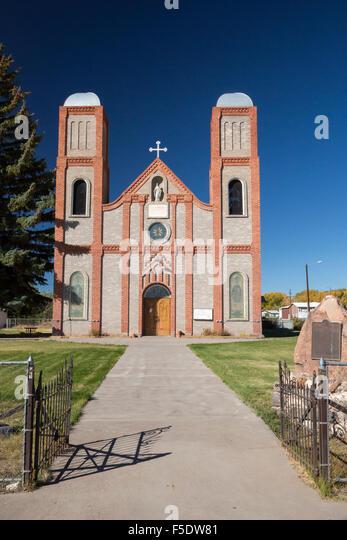 Conejos, Colorado - unsere Liebe Frau von Guadalupe katholische Kirche behauptet, die älteste Kirche in Colorado. - Stock-Bilder