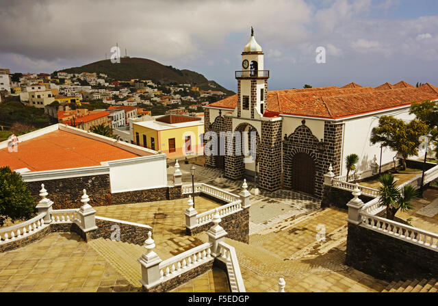 Iglesia Santa Maria De La Concepcion, Valverde, El Hierro, Kanarische Inseln, Spanien, Europa Stockbild