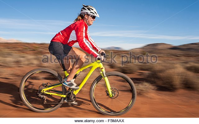 Mountainbiker, Las Vegas, Nevada, USA Stockbild