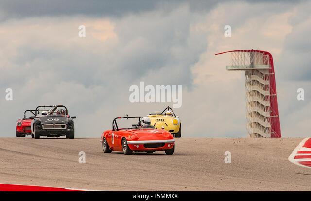 Sportscar Vintage Racing Circuit of the Americas, Austin, Texas. Stockbild