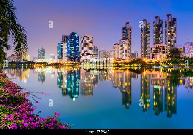 Bangkok, Thailand im Benjakiti Park. Stockbild