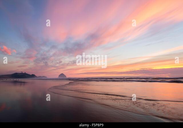Tierra del Mar Beach, Oregon Stockbild