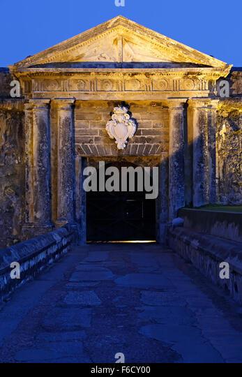 Eingang, San Juan National Historic Site, Old San Juan, Puerto Rico, San Felipe del Morro Castle (El Morro) Stockbild