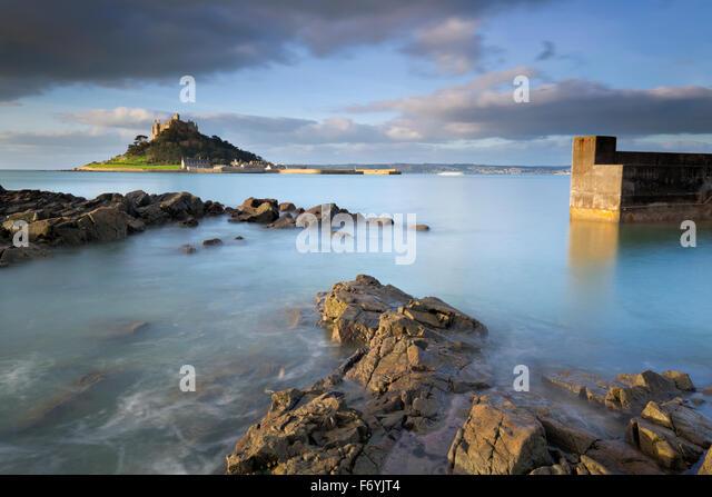 St. Michaels Mount; Marazion Cornwall; UK Stockbild