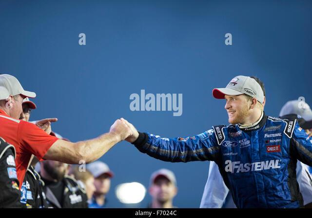 Homestead, Florida, USA. 21. November 2015. Chris Buescher (60) gewinnt die NASCAR Xfinity Serie Championship 2015 Stockbild