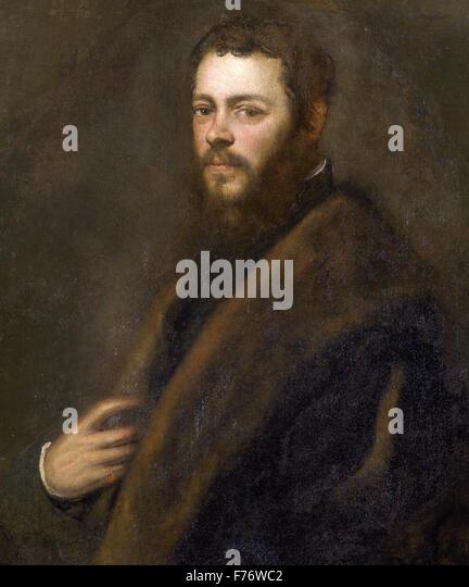 Jacopo Tintoretto - venezianischen Patrizier Stockbild