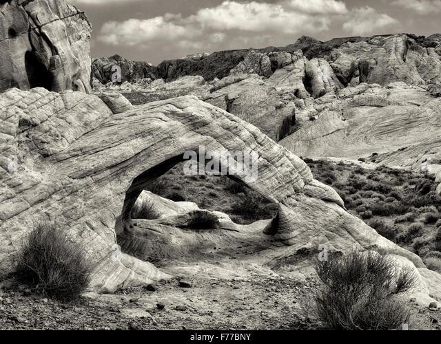 Weiße Arch Valley of Fire State Park, Nevada Stockbild