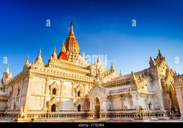 Bagan, Myanmar im Ananda-Tempel. Stockbild