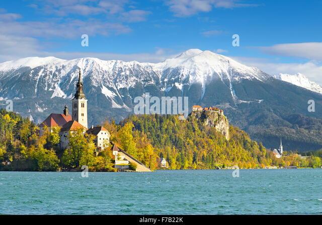 Slowenien, See Bled Stockbild