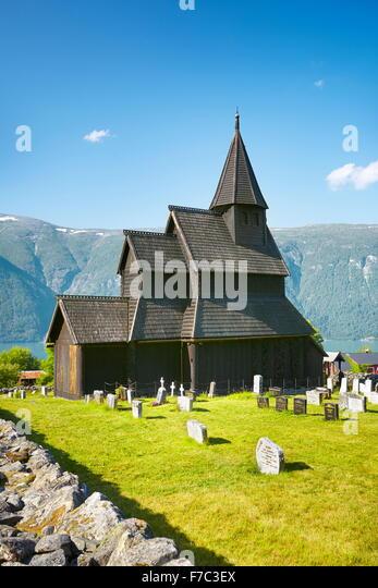 Urnes Stabkirche, Unesco, Norwegen Stockbild