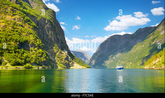Sognefjord, Norwegen Stockbild