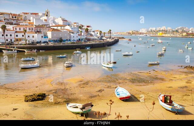 Ferragudo, Algarve, Portugal Stockbild