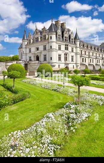 Schloss Chenonceau, Chenonceaux, Loiretal, Frankreich Stockbild