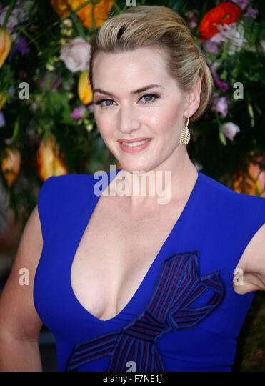 13. April 2015 - London, England, UK - Kate Winslet Besuch ein wenig Chaos UK Premiere, Odeon Kensington Stockbild