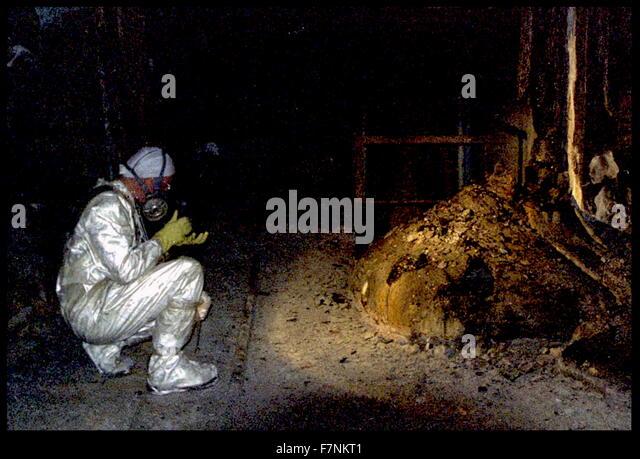 Die Elefanten-Fuß der Tschernobyl-Katastrophe. Stockbild