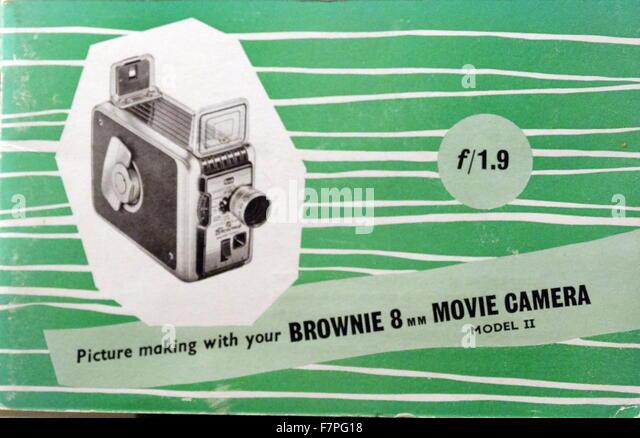 Anzeige für Brownie 8mm Filmkamera 1950 Stockbild