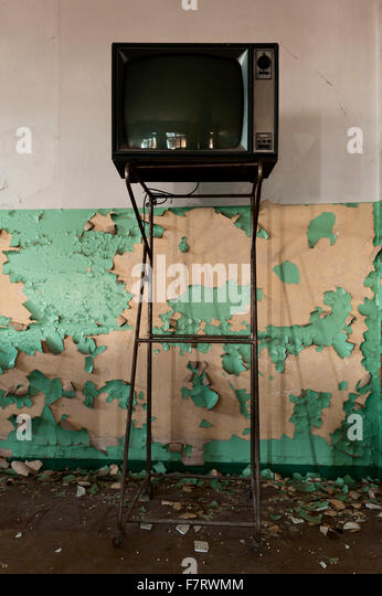 Italien. Peeling-Wand Stockbild