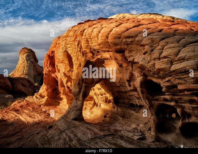 Felsformation. Valley of Fire State Park, Nevada Stockbild
