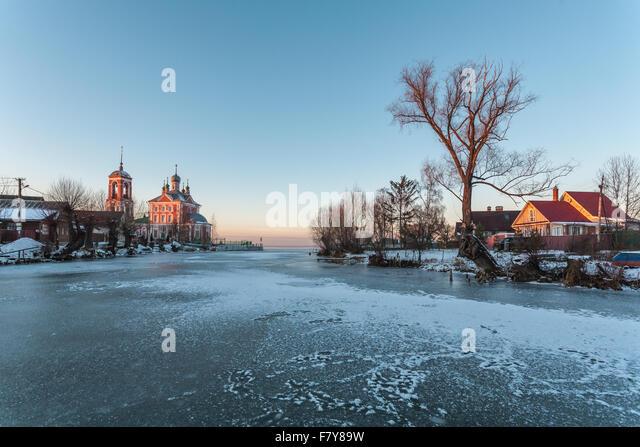 Pereslawl-Salesskij, Russland-29. November 2015: Sorokosvyatsky Kirche der vierzig Märtyrer Sevastiysky 1775 Stockbild