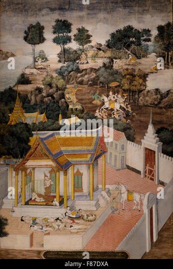 Leben des Buddha - Thailand - um 1800 - Stock-Bilder