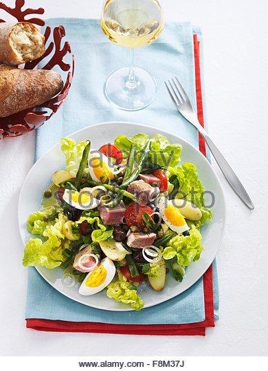 Salade niçoise Stockbild