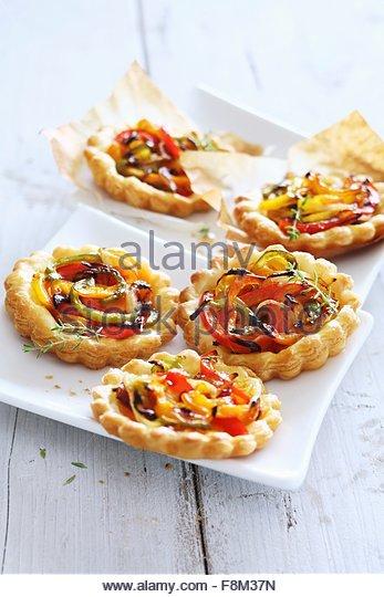 Mini-Paprika-Kuchen Stockbild